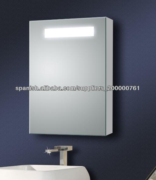 Ba o puerta corredera armario con espejo con luz tocadores - Armario de bano con espejo y luz ...