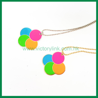 Round Pendant with Fluorescent Color Necklace