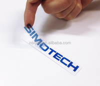 Self adhesive logo print transparent pvc sticker label paper for plastic bottles, Customized transparent labels
