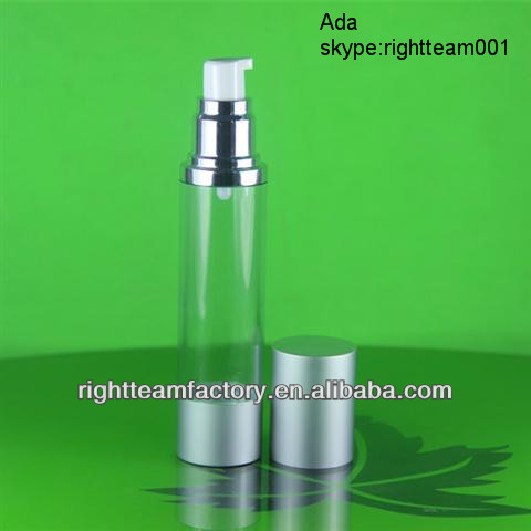 cosmetic airless dispenser 30ml Airless lotion bottle with lotion pump airless pump bottle