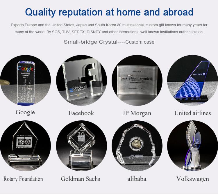 Commercio all'ingrosso Top-Grade K9 In Bianco di Cristallo Blocco di Sublimazione di Cristallo per Incisione Laser Ospite di Disegno