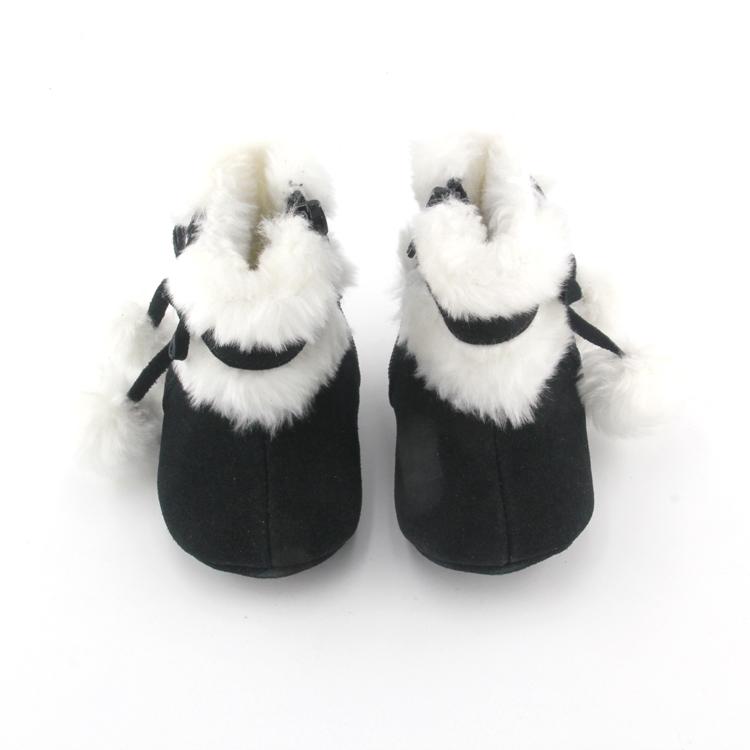เด็กวัยหัดเดินขนแกะรูปนางแบบทารกรองเท้าฤดูหนาวที่ทำจากขนสัตว์ทารกรองเท้า