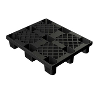 100% Virgin HDPE Made Flat 9 Feet Nestable Logistic Plastic Pallet For Warehouse