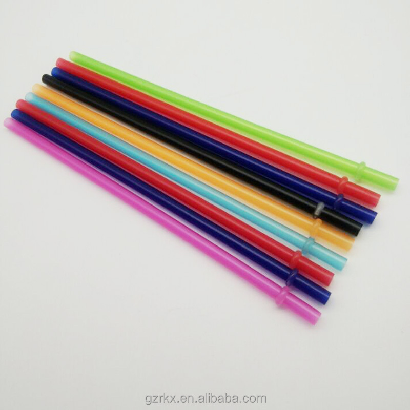 Clear Solid Colors Plastic Acrylic straw with ring, bpa free Reusable plastic straw,Replacement plastic Straws