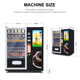 Automatic Combo Snack and Beverage Vending Machine LLE210A with 32 Inch LCD Display