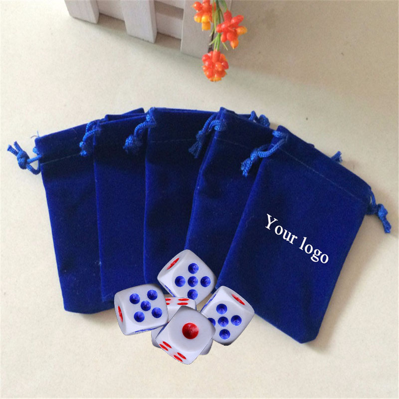 Custom Dice Pouch Bag Jewelry Velvet Pouches With Logo Personalized Drawstring 2018