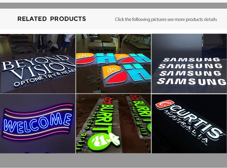 Thép không gỉ chống thấm logo tên mảng bám khách sạn backlit 3d chiếu sáng dấu hiệu biểu tượng công ty kinh doanh điện 3d biểu tượng kim loại