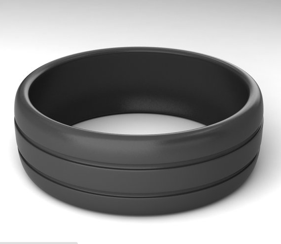 New Style Silicone Wedding Bands Double Line Silicone wedding rings