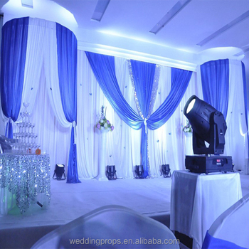 3mx6m Royal Blue Wedding Pipe And Drape Stage Backdrop Decoration