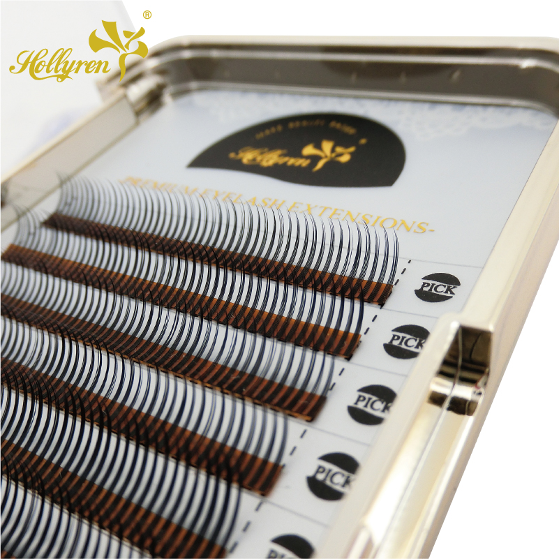 Private Label Rapid Blooming Volume Mink Eyelash Extensions OEM