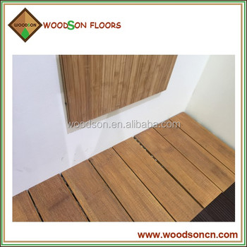 Strand woven waterproof outdoor 100 solid bamboo deck for Bamboo flooring outdoor decking