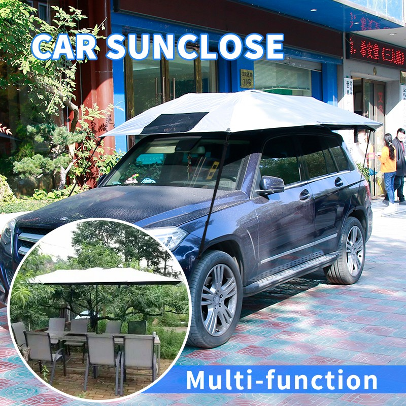 SUNCLOSE foldable good quality manful car front window shade heated car cover pattern , mpv car seat accessory