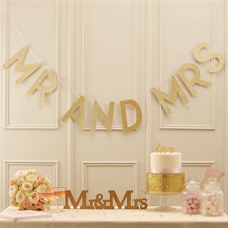 Glitter gold mariage wedding decoration