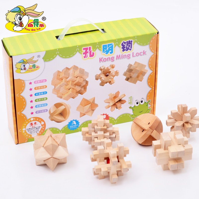Kong Ming Luban Lock Chinese Traditional Toy Unique Wooden Puzzles