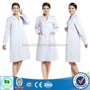 2015 New Style Doctors White Coat / Men's White Coat For Hospital ...