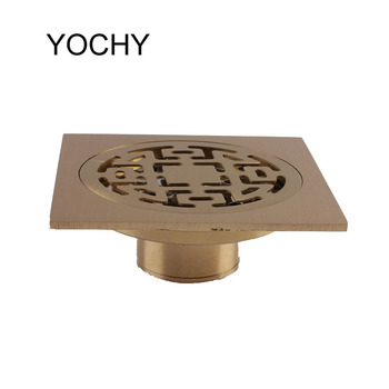 Round Floor Drain Grates Brass Deodorant Bathroom Shower Floor Drain Anti-odor Floor Drain For Family Bathroom