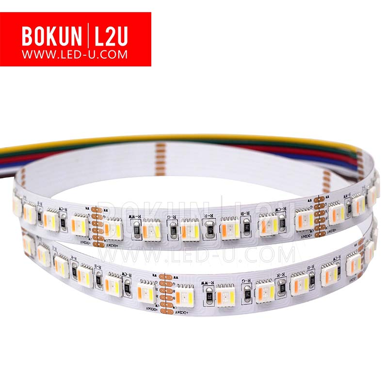 Manufacture Flexiable led strip light RGBWW CW 5chip in led 5050 strip RGBWW/RGBCW CCT adjustable strip light
