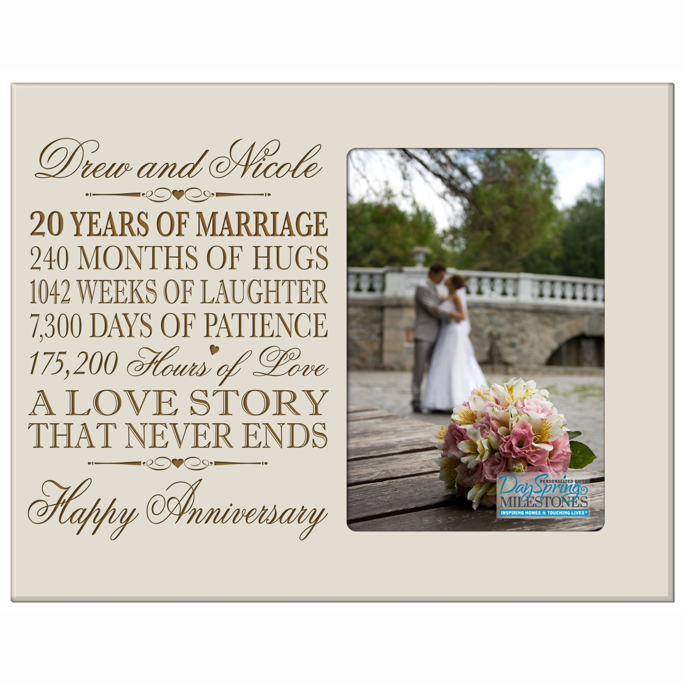 Buy Personalized Twenty Year Anniversary Gift For Her Him Couple