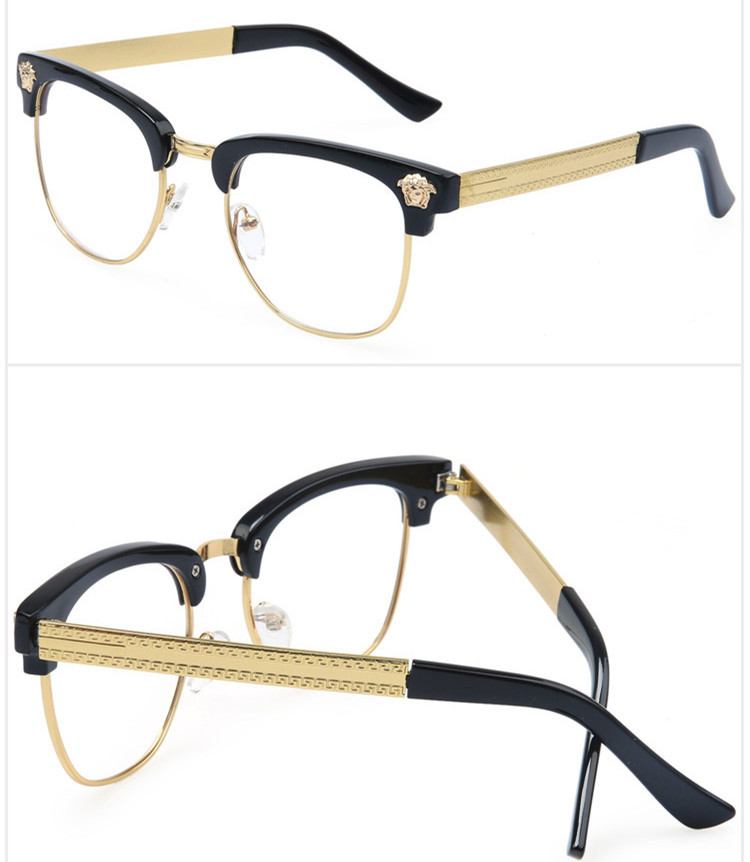7f2530a918b Half Frame Glasses Men New 2015 Brand Eyeglasses Computer Women Optical Eye  Glasses Myopic Frame Glasses Vintage Oculos de grau