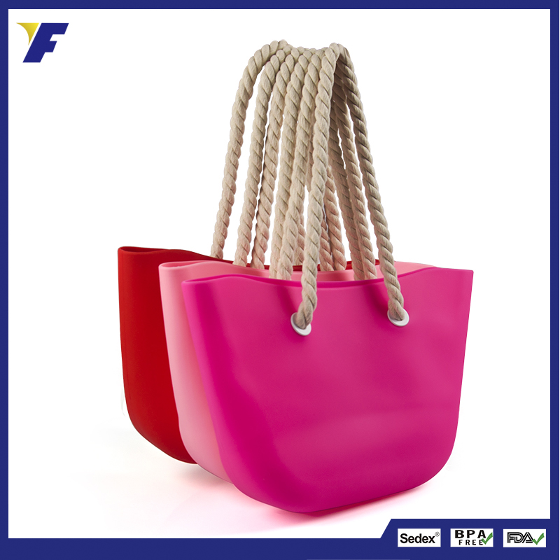Promotional Printed Silicone Rubber Handbags 2017 bags women handbags