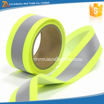 En471 Fire Resistant Elastic Fabric High Visibility Nomex Reflective Tape  For Safety Clothing - Buy Nomex Reflective Tape,Nomex Reflective Tape,Nomex