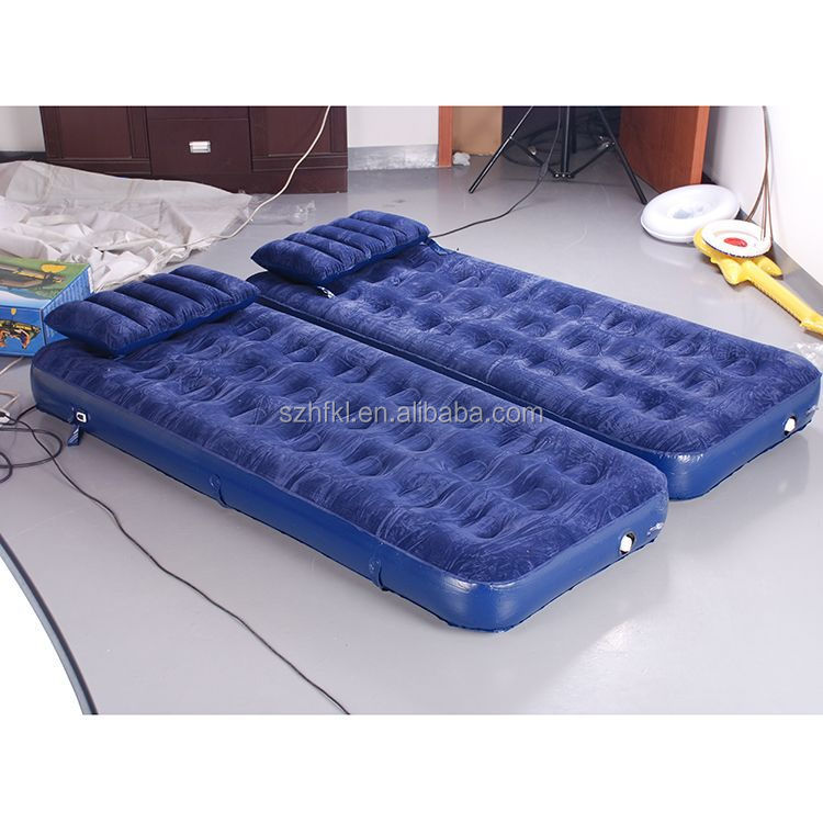 customize home style twin inflatable flocked air mattress/inflatable air bed mattress