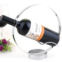 Wine Shop Table Top Stainless Steel Single Bottle round wine rack