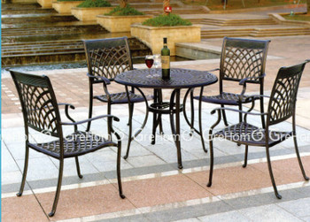 Malaysia Garden Furniture Outdoor Furniture Made Of Aluminum Buy - Teak and aluminium outdoor table