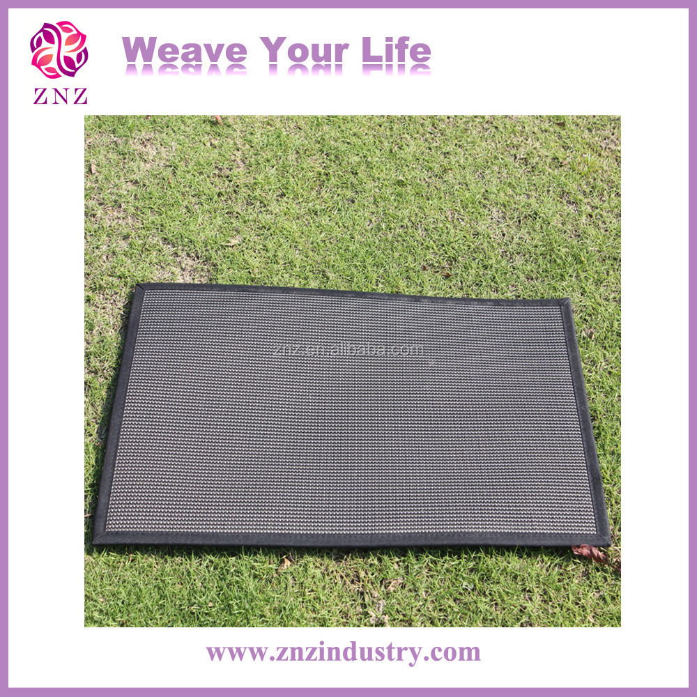 Washable Woven PVC Carpet Outdoor Rugs Recycled Plastic