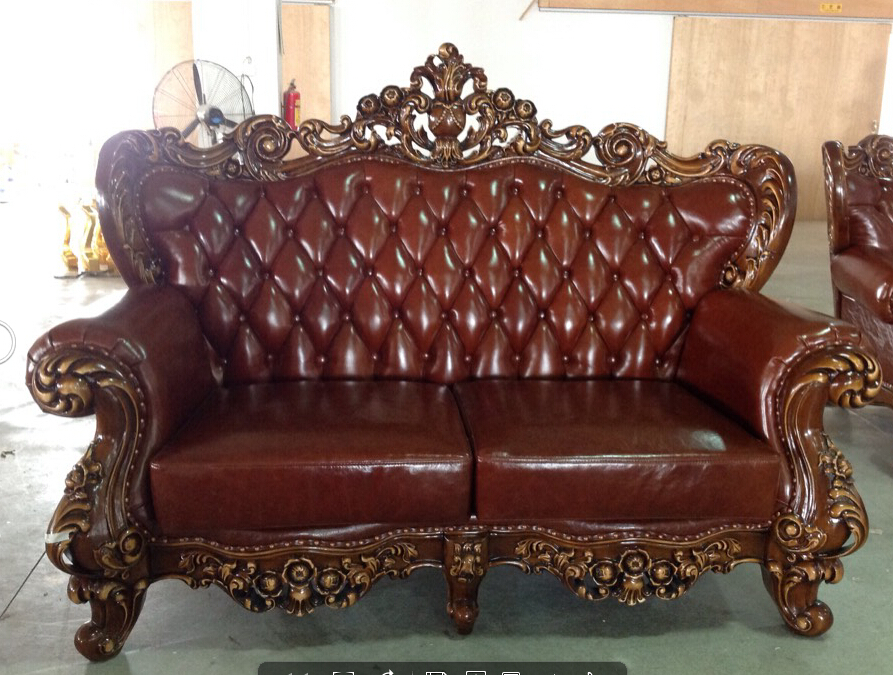 French Provincial Furniture Brown Leather French Luxury