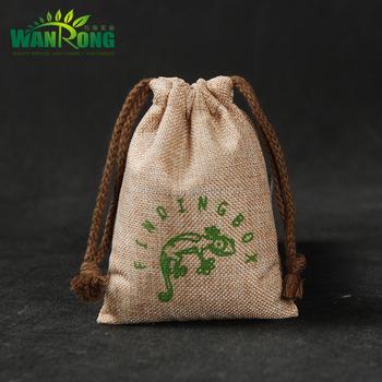 Promotional drawstring imitation jute bags, hemp gift bags