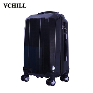 high quality polo aluminum trolley beauty luggage