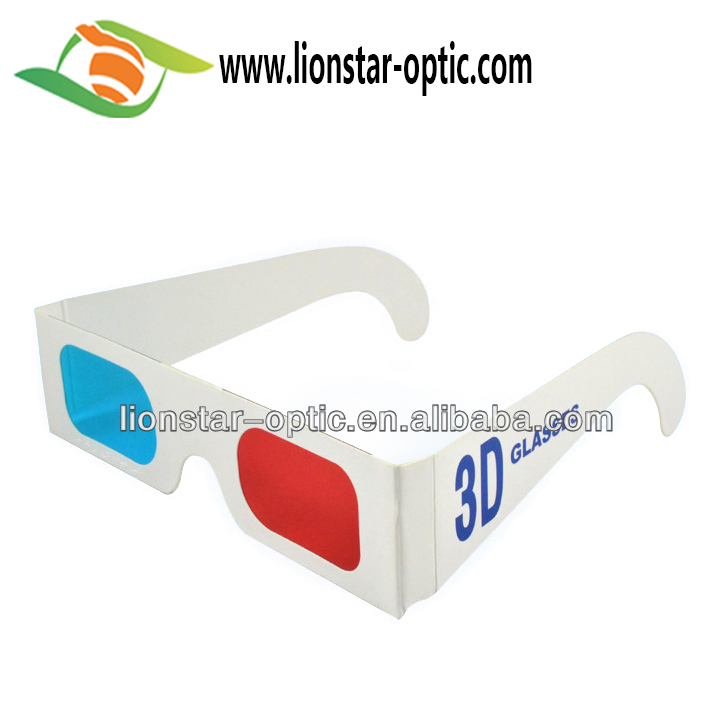 Custom Printing Paper Frame 3D Red Cyan Glasses Red Blue 3D Glasses for 3D photos