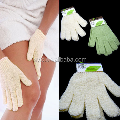 Printing manufacturers wholesale Chamfer gloves Exfoliating bath gloves.