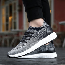 Good Quality Strap fly Woven Men Running Sport Shoes Men