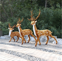 large outdoor realistic artificial christmas reindeer