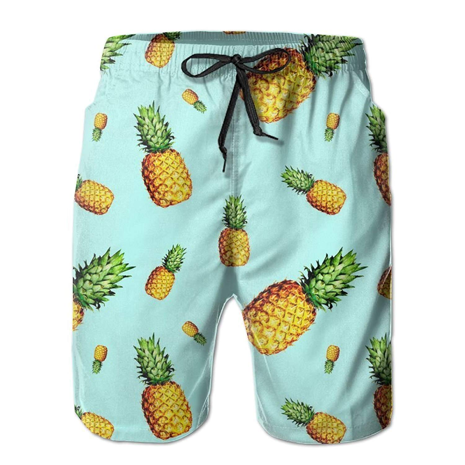 Ouxioaz Boys Swim Trunk Ananas Pineapple Beach Board Shorts