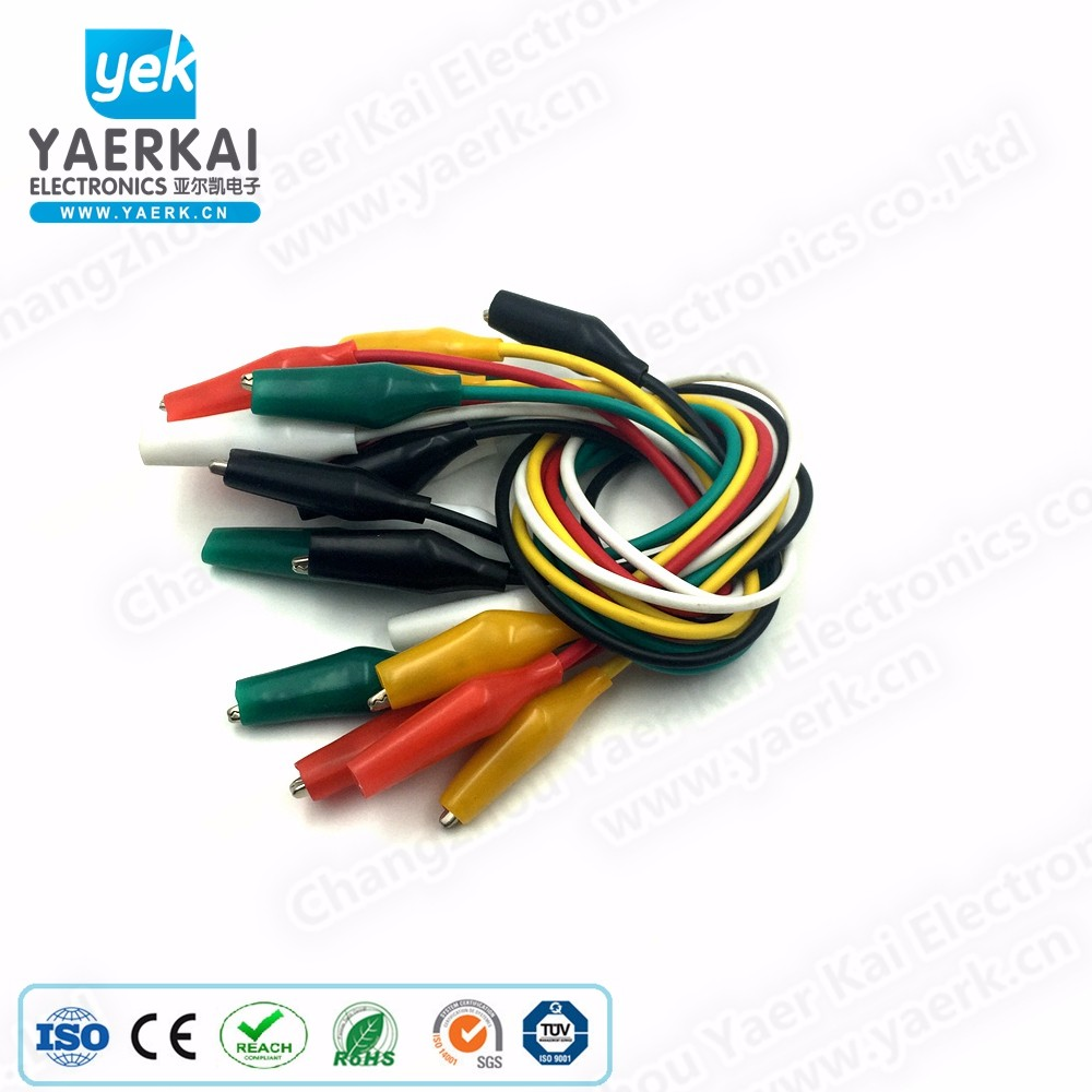 5 colour wire lead 10PCS test leads set with 27mm alligator clip