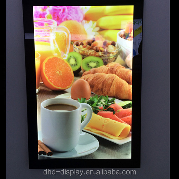 Fast Food led light panel menu board light up menu restaurant display light box