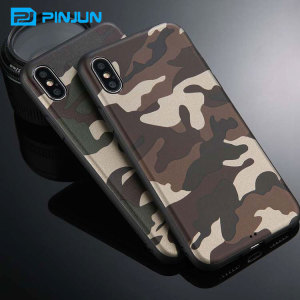 mobile phone accessory tpu leather case camouflage for iphone x case