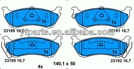 Auto Brake Pad for BENZ 163 420 04 20 W163 O/M230