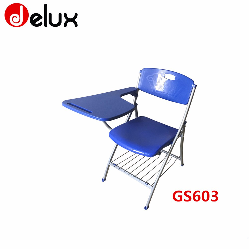 Cheap school university furniture with writing pad chair for Affordable furniture for college students