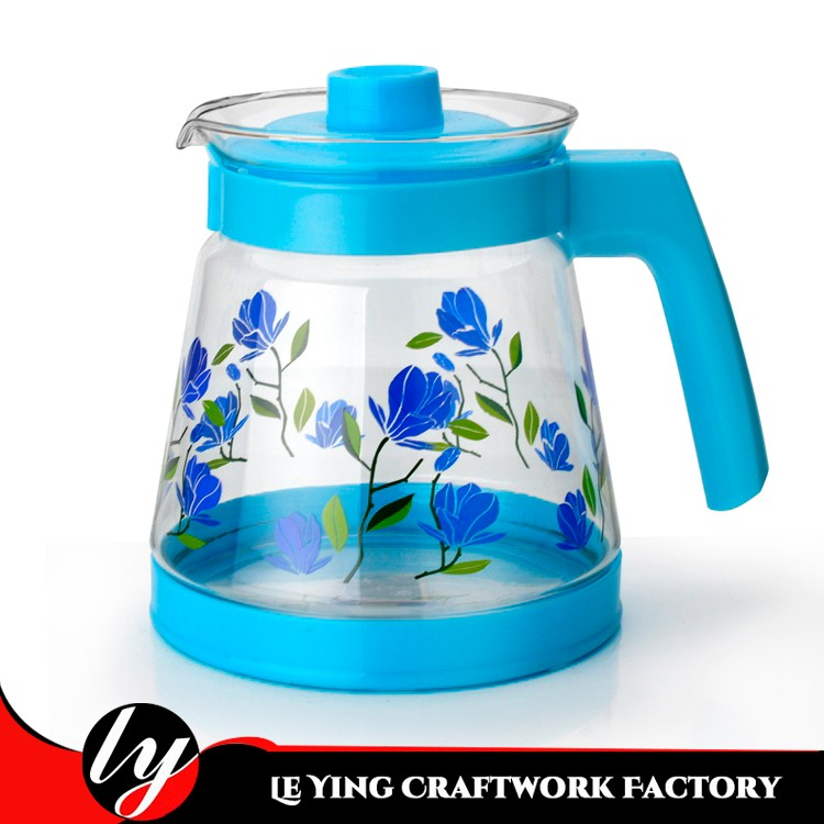 hot and cold water jug with flower decal arabic glass teapot glass jug