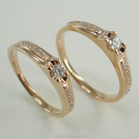 Top quality white gold couple rings love rings with diamond