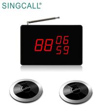 SINGCALL restaurant hotel catering service pager wireless waiter call system