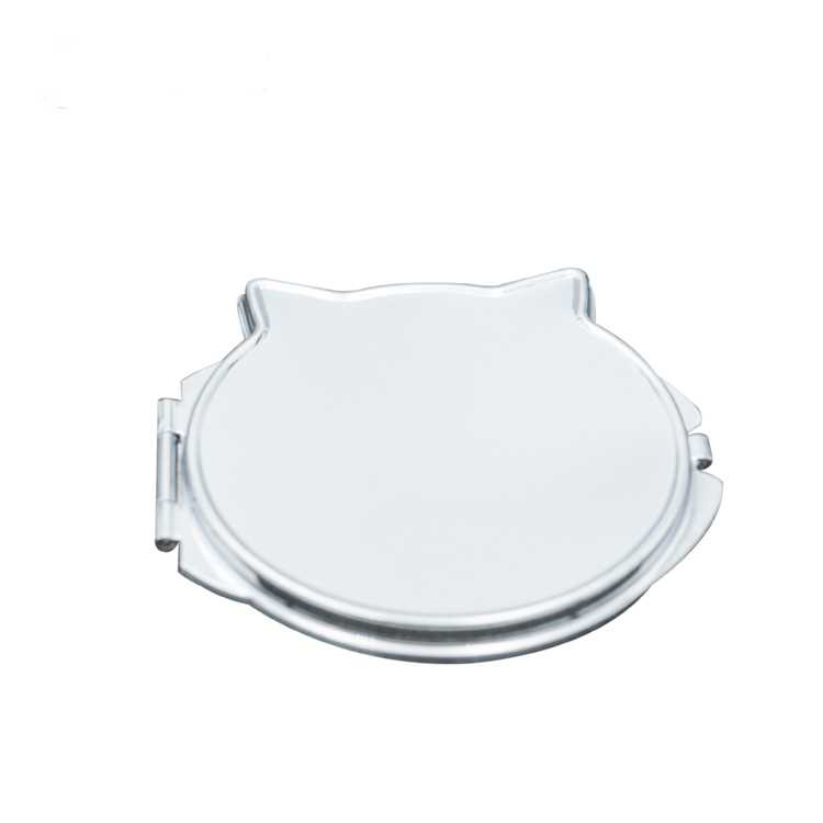 High-end women and girls gift novelty fashion design Ali cat shape hand held compact cosmetic makeup mirror