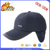 blank plain custom baseball cap with ear flaps hat