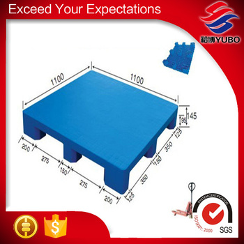 100% Virgin 9 Feet Flat Top Plastic Pallet