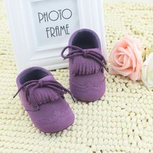 Baby First Walkers Toddler Winter Moccasins Leather Tassel Shoes Boots Leather Lace Up Shoes