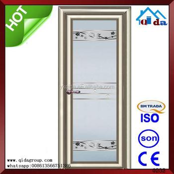 Aluminum Frosted Glass Bathroom Door Flush Door Design With Glass Buy Sliding Glass Door Flush